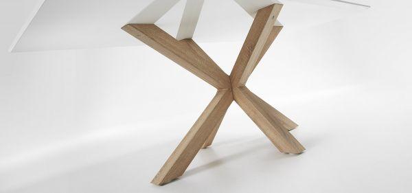 Masa ELLE White Natural Sonoma 160 / 200x100 cm