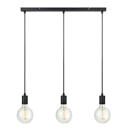 SNORRE Pendant 3L Straight Black Lampa suspendata
