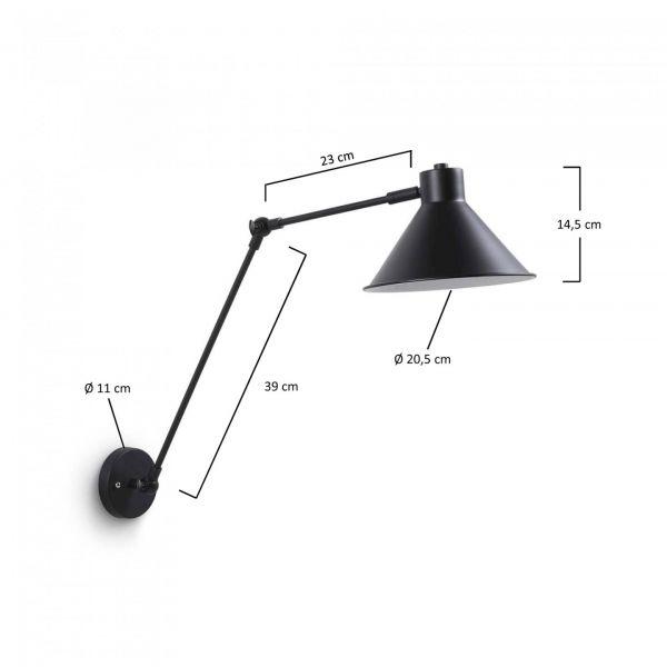 ORA BLACK Lampă de perete
