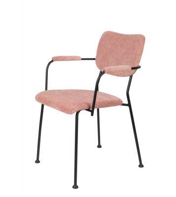 Scaun cu brațe BENSON PINK