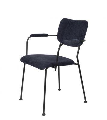 Scaun cu brațe BENSON DARK BLUE