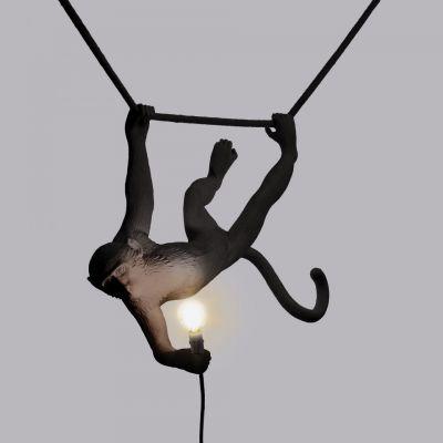 Lampă suspendată interior/exterior MONKEY SWING BLACK