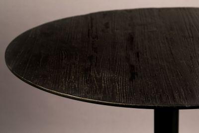 Masă BRAZA ROUND BLACK 75 cm