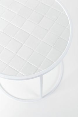 GLAZED SIDE WHITE Măsuță de cafea 40 cm