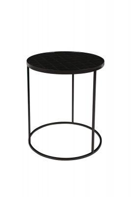 GLAZED SIDE BLACK Măsuță de cafea 40 cm