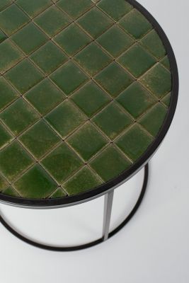 GLAZED SIDE GREEN Măsuță de cafea 40 cm