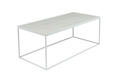 GLAZED WHITE Măsuță de cafea  43x93 cm