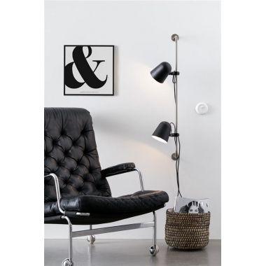 CARNUTE 2L Black/Steel Lampă de perete