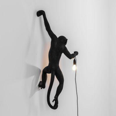 Lampă de perete interior/exterior stânga MONKEY HANGING BLACK