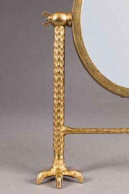 Oglindă de masă FALCON BRASS