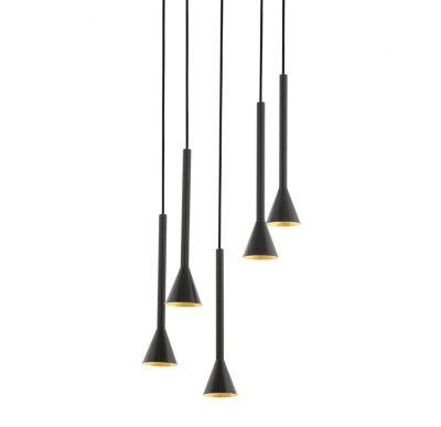 Lampă suspendată CORTADERAS BLACK-GOLD 5L