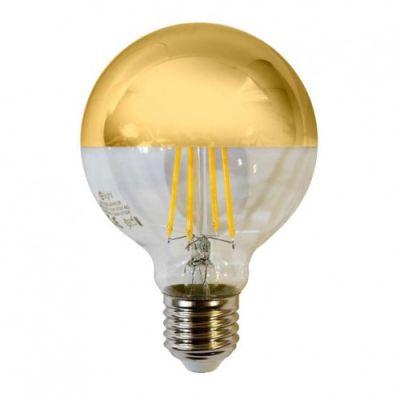 BEC LED GOLDEN MIRROR 8W DIMABIL  LUMINA CALDA