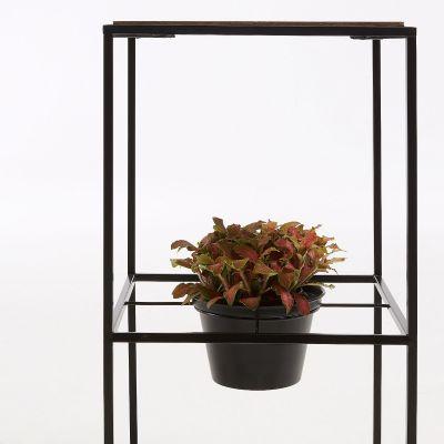 Măsuță cu suport ghivece ROSER 1 BLACK 33x60 cm