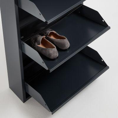 Dulap pantofi 3 compartimente BITS GRAPHITE