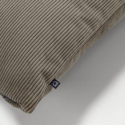 Husă de pernă NAMIA Corduroy Dark grey 60 x 60 cm