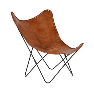 Fotoliu FLIAN Brown leather