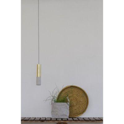 KALLA 33 INOX NATURAL-BRASS LAMPA SUSPENDATA
