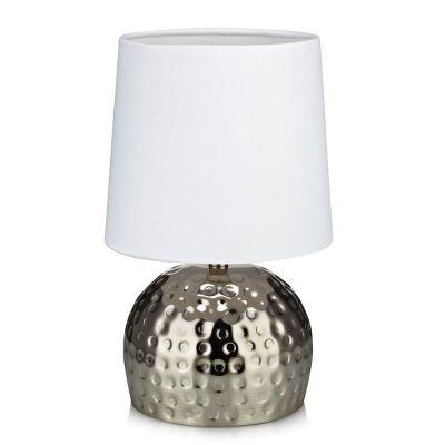 HAMMER SILVER/WHITE Lampă de masă