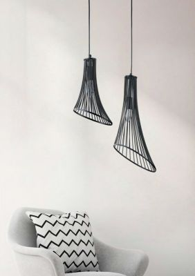 Lampă suspendată GINA BLACK 23 cm