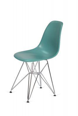 SCAUN KREO SILVER COLOURS-Turquoise