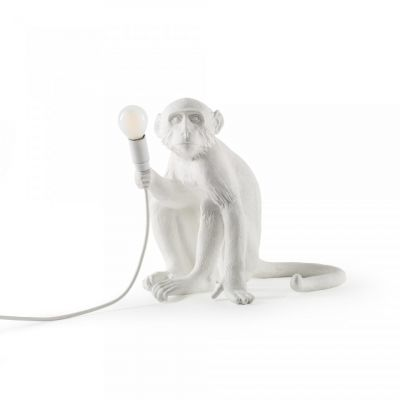 Lampă de masă interior MONKEY SITTING WHITE