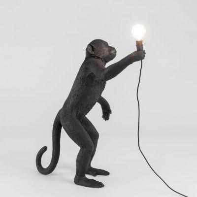 Lampă de masă exterior MONKEY STANDING BLACK