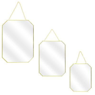 Set 3 oglinzi TESSA GOLD