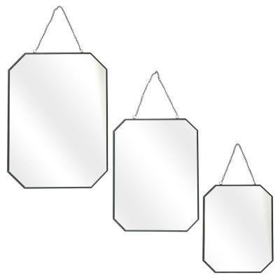 Set 3 oglinzi TESSA BLACK