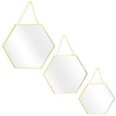 Set 3 oglinzi AMIA GOLD