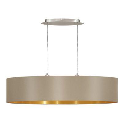 Lampă suspendată MASERLO TAUPE/GOLD 78 / 100 cm