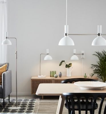 LARRA 1L White/Steel Lampa de podea
