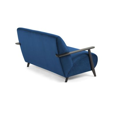 Canapea MARTIN VELVET Dark blue - Wengue