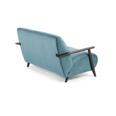 Canapea MARTIN VELVET Turquoise - Wengue