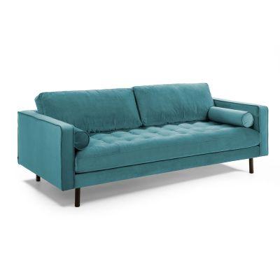 Canapea BOGARA THREE VELVET Turquoise