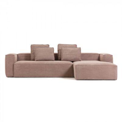 Canapea cu colț 3 locuri BLOSS VELVET PINK RIGHT