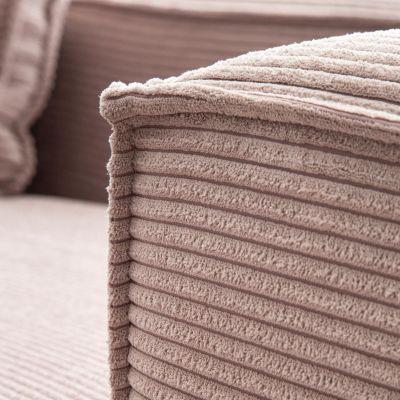 Canapea cu colț 2 locuri BLOSS VELVET PINK RIGHT