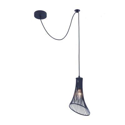 Lampă suspendată GINA BLACK 16 cm
