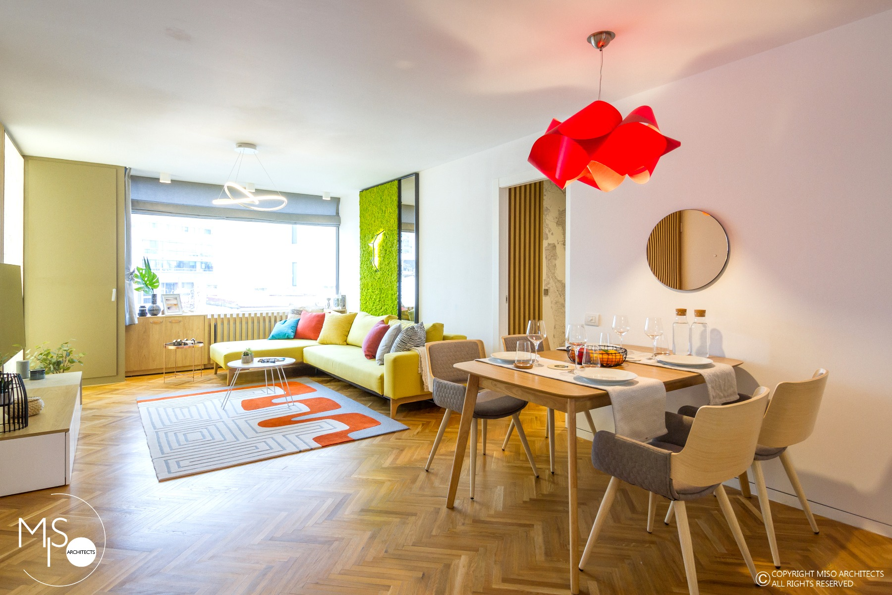 Apartament viu colorat